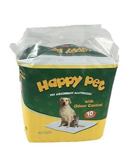 Happy Pet Traverse Cane E Gatto 60x60 - 10pz. -   Cartone da 10 confezioni da 10 pz. = TOTALE 100 TRAVERSE